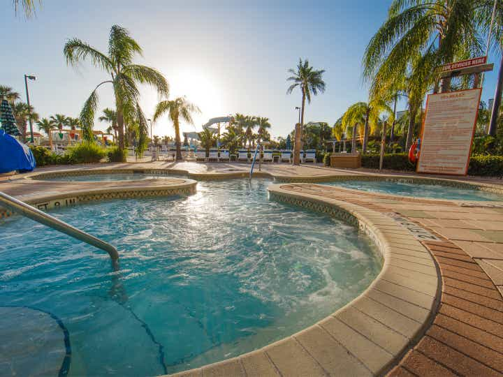 Outdoor hot tubs at Cape Canaveral Beach Resort.