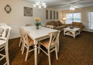 Dining area in a villa at Orlando Breeze Resort.