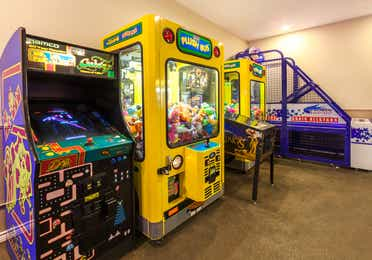 Arcade with Pac-Man at Villages Resort in Flint, Texas.
