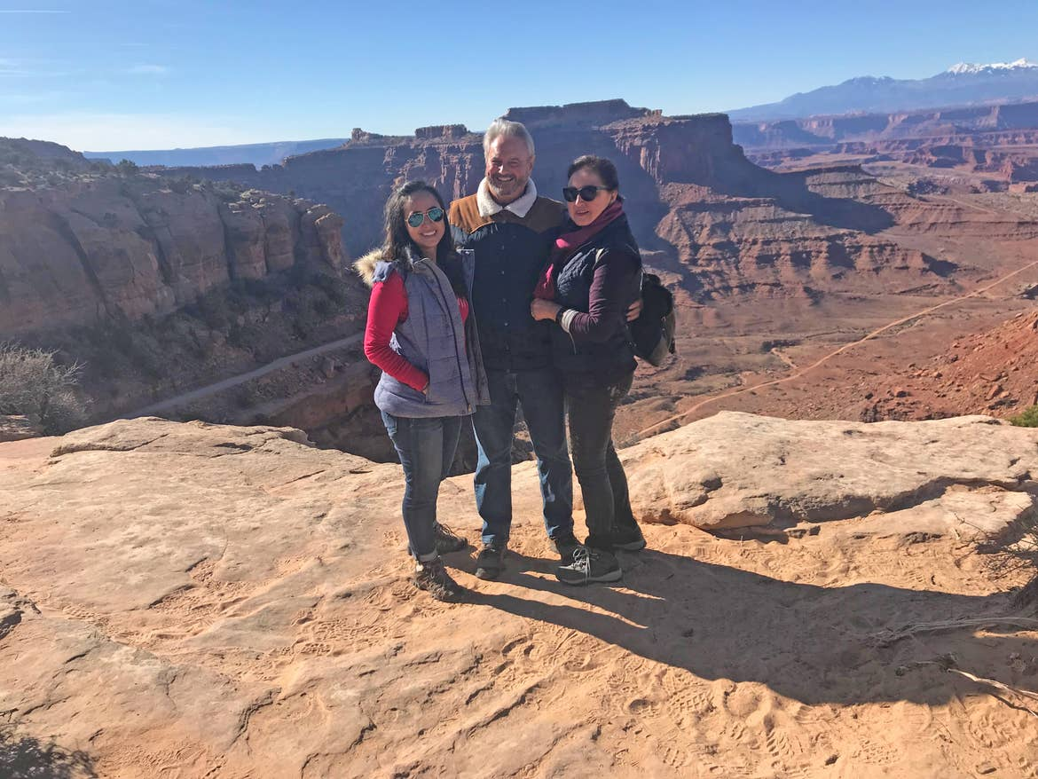 Andrea with her family in Zion