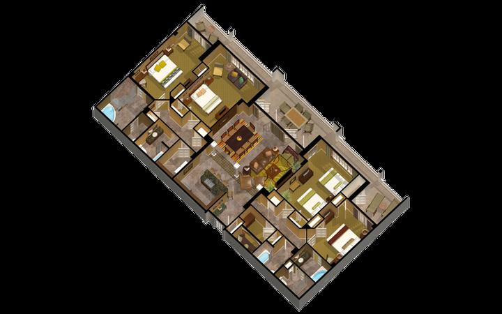 Signature Collection River Island four-bedroom villa floor plan