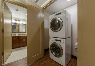 In-unit washer/dryer in a three-bedroom villa at Scottsdale Resort