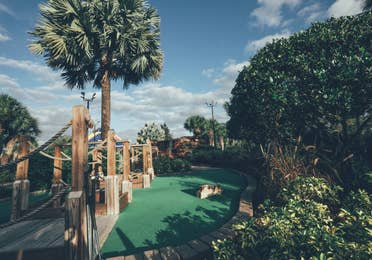 Mini golf course in River Island at Orange Lake Resort near Orlando, Florida