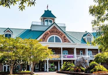 Virginia Zoo building near Williamsburg Resort in Williamsburg, Virginia.
