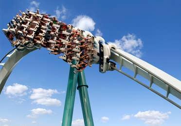 Rollercoaster at Busch Gardens near Williamsburg Resort.
