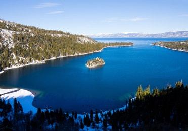 Aerial view of Lake Tahoe