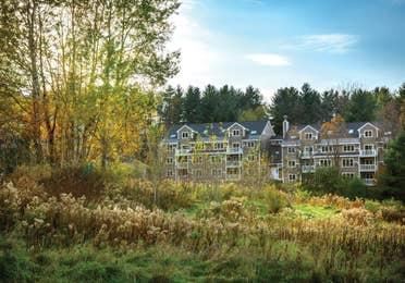 Exterior view of Mount Ascutney Resort in Brownsville, VT
