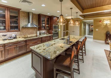 Kitchen in a Signature Collection villa at Smoky Mountain Resort in Gatlinburg, Tennessee.
