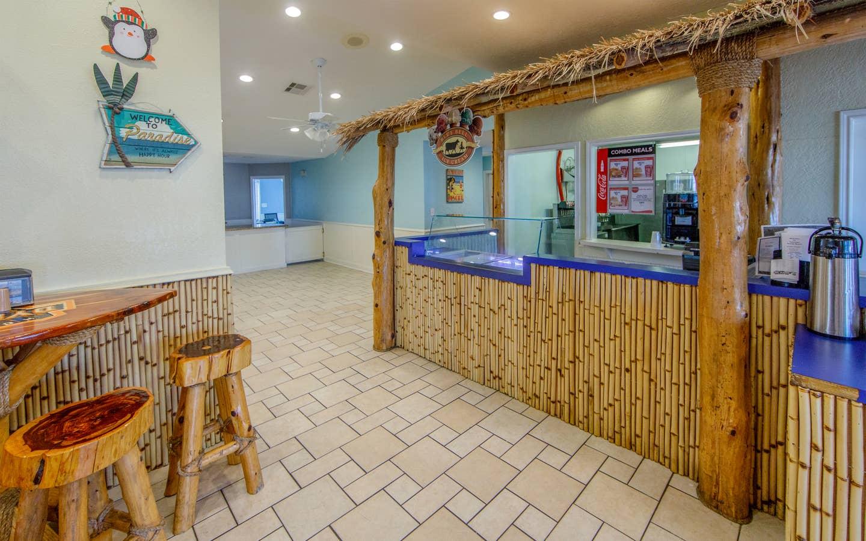 Seaside Resort Snack Bar at Galveston Seaside Resort.
