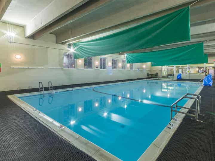 Indoor pool at Oak n Spruce Resort.