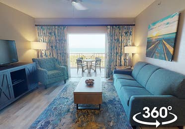 Beachfront villa at Cape Canaveral Beach Resort.