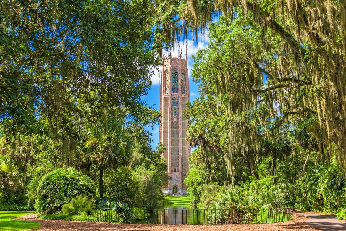 Central Florida's Bok Tower surrounded by trees