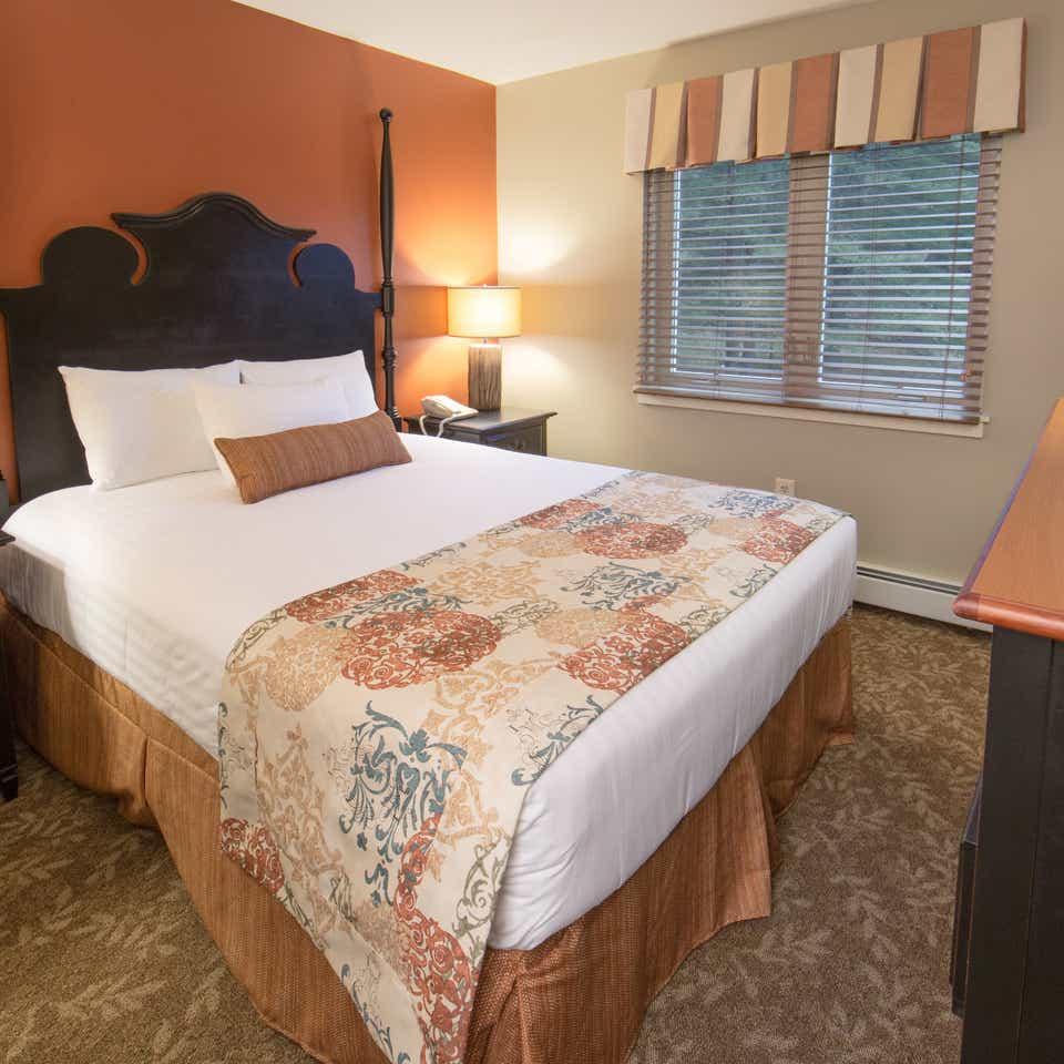 Guest bedroom in a two-bedroom villa at Mount Ascutney Resort in Brownsville, VT
