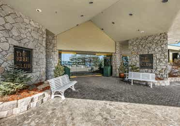 Clubhouse entrance at Tahoe Ridge Resort in Stateline, NV