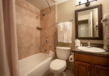 Bathroom in a two-bedroom villa at Mount Ascutney Resort in Brownsville, VT