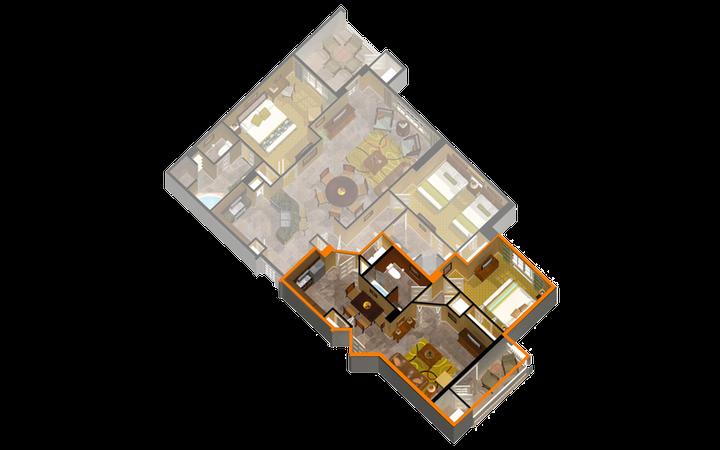 Signature Collection River Island one-bedroom villa floor plan