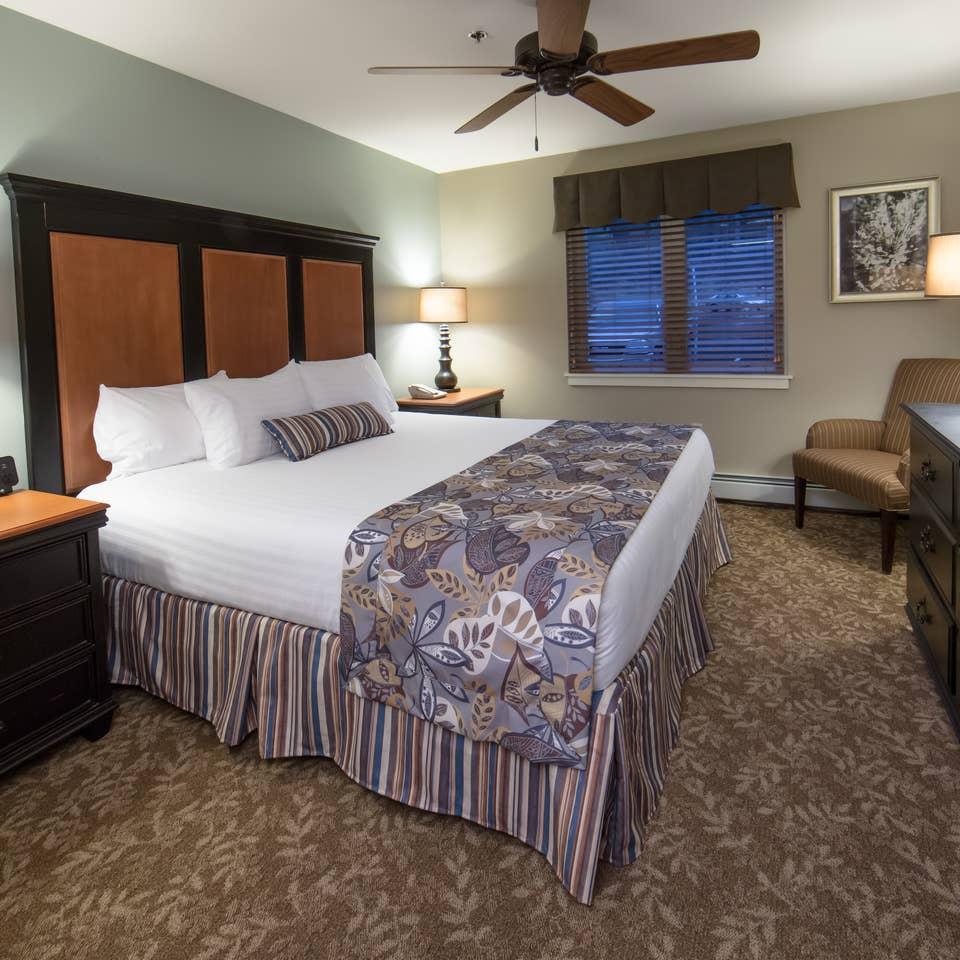 Bedroom in a villa at Mount Ascutney Resort in Brownsville, VT