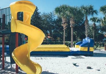 Outdoor children's playground in River Island at Orange Lake Resort near Orlando, Florida