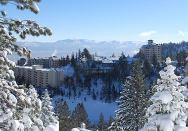 Tahoe Ridge Resort located in Stateline, NV in the winter