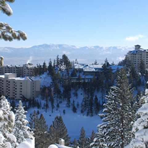 Tahoe Ridge Resort located in Stateline, NV in the winter