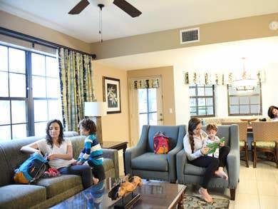 Family enjoying a spacious villa.