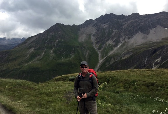 Hiking the Swiss Alps. I did the Mont Blanc starting in France to Italy, Switzerland and back.