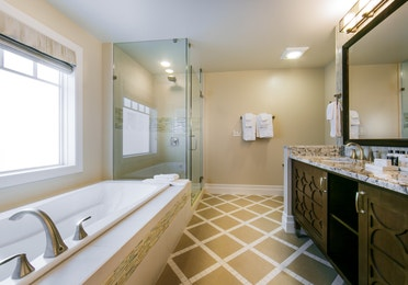 Bathroom in a three-bedroom Signature Collection villa at South Beach Resort