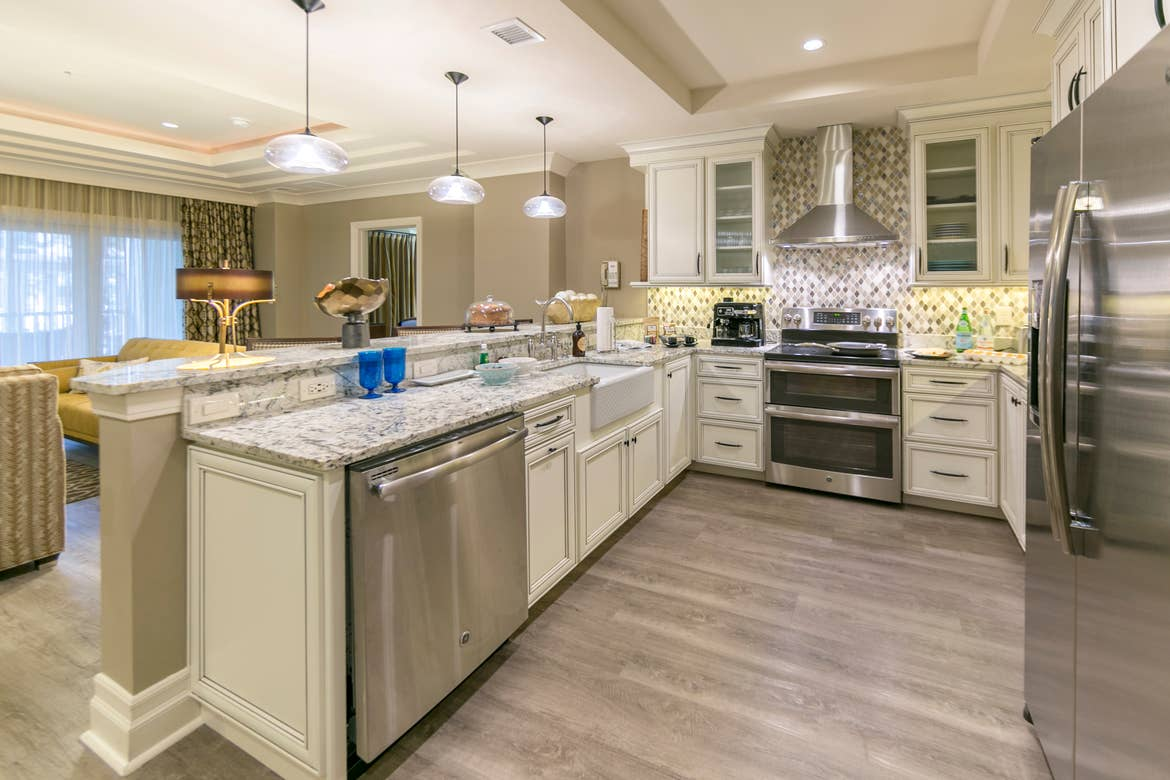 The kitchen in our Signature Collection villa at South Beach Resort in Myrtle Beach, SC.