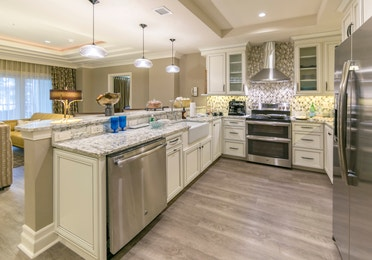 Kitchen in a four-bedroom Signature Collection villa at South Beach Resort