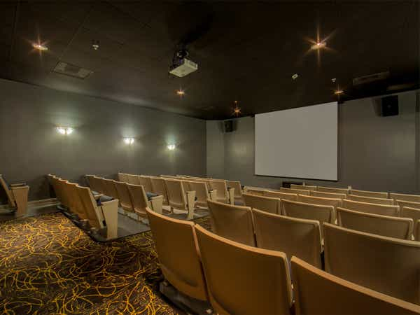 Movie theater at Cape Canaveral Beach Resort.