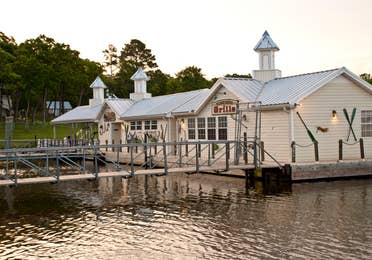 Exterior view of the marina at near Villages Resort in Flint, TX