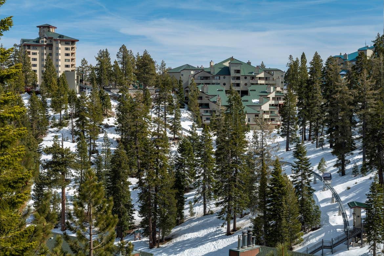 An aerial view of our Tahoe Ridge Resort in Lake Tahoe.