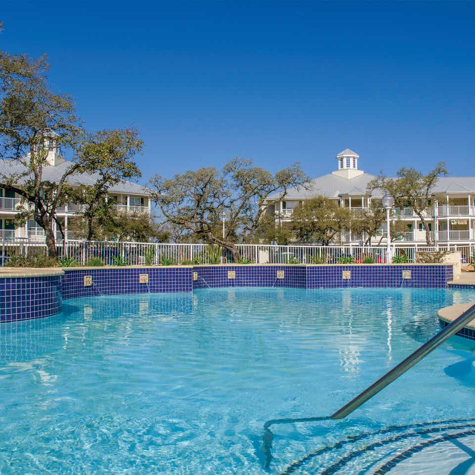 Outdoor pool at Hill Country Resort in Hill Country, Texas.