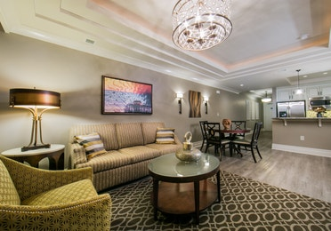 Living room in a three-bedroom lock-off Signature Collection villa at South Beach Resort