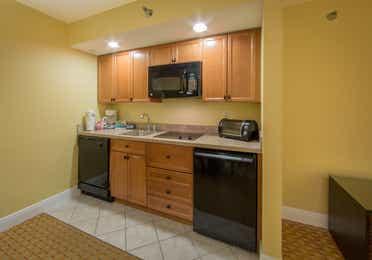 Kitchenette in a one bedroom villa in West Village at Orange Lake Resort near Orlando, FL