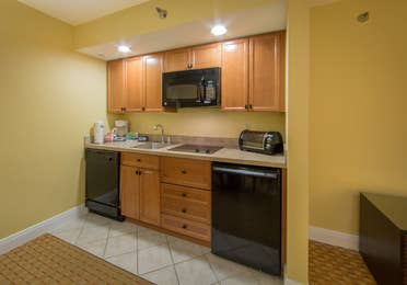 Kitchenette in a one bedroom villa in West Village at Orange Lake Resort near Orlando, FL