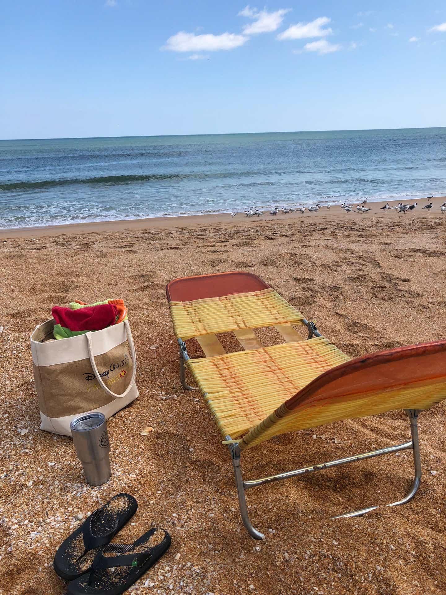 Chair on Daytona Beach