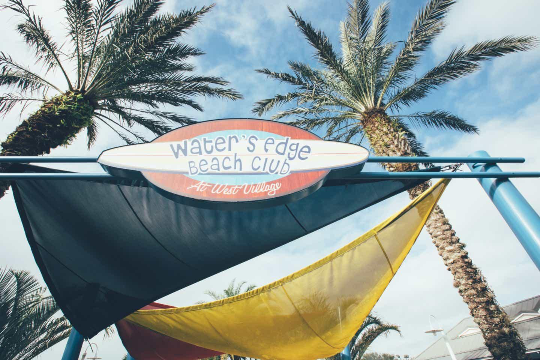 Water's Edge Beach Club sign at Orange Lake Resort