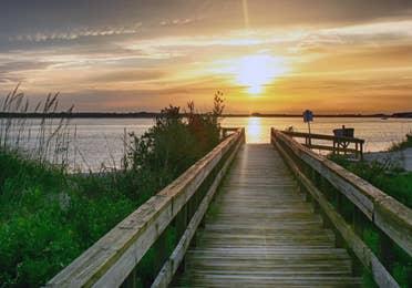 Ponce De Leon pier near Orange Lake Resort in Orlando, Florida