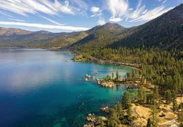Aerial view of Lake Tahoe