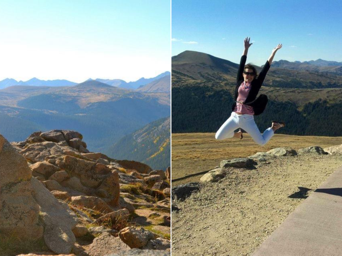 Collage of Jenn at Rocky Mountain National Park