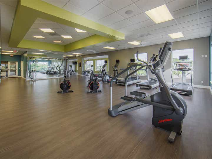 Fitness center with treadmills at Cape Canaveral Beach Resort.