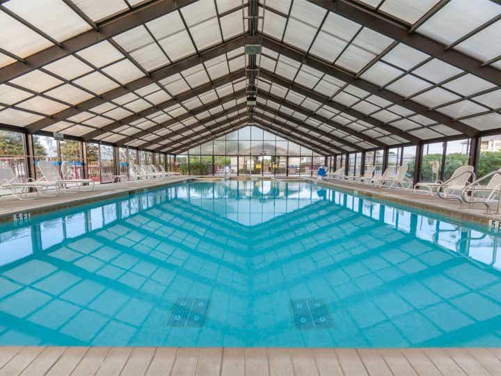 Indoor pool at Piney Shores Resort in Conroe, Texas.