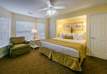 Master bedroom in a villa at Orlando Breeze Resort.