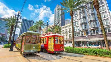 Trolleys in New Orleans