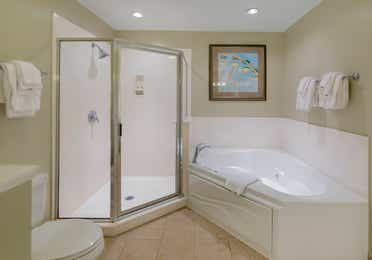 Bathroom in a two-bedroom villa at South Beach Resort