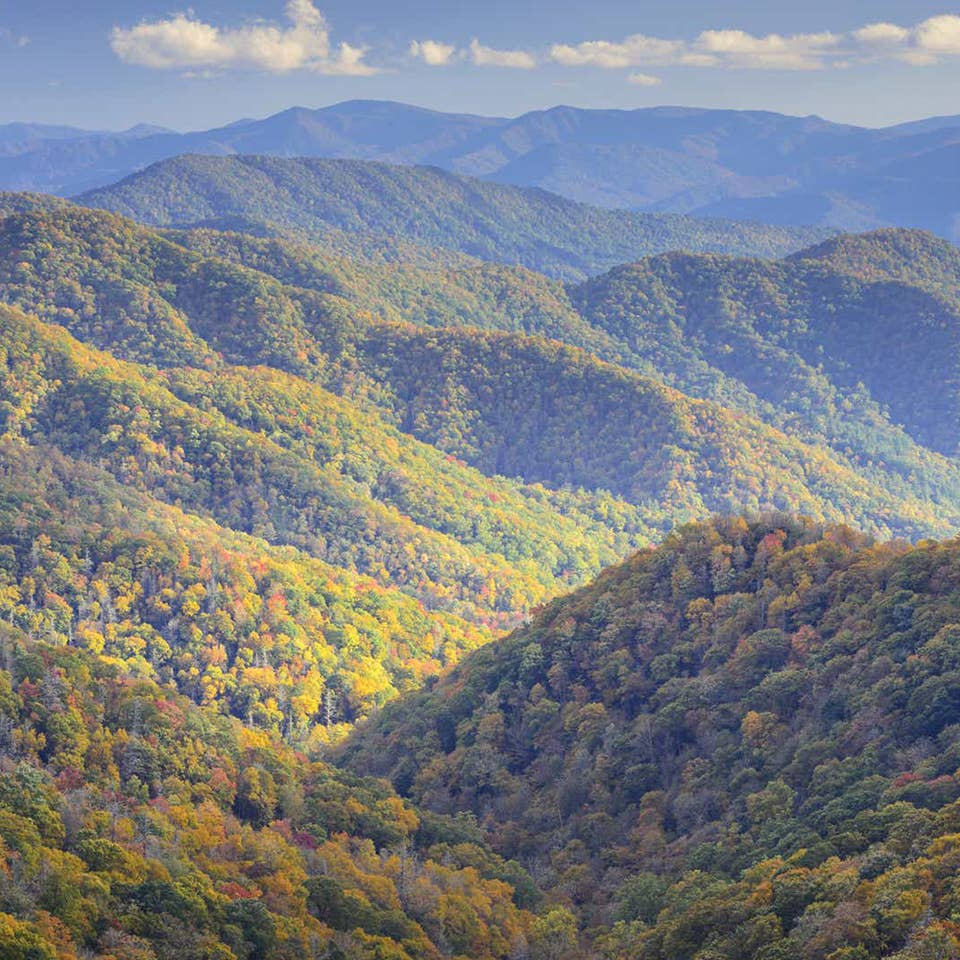 Aerial view of the Smoky Mountains