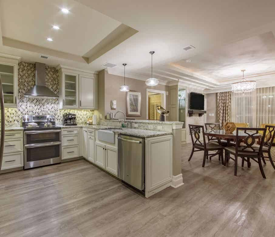 Kitchen in a three-bedroom lock-off Signature Collection villa at South Beach Resort