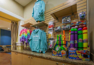 Marketplace with souvenirs at Cape Canaveral Beach Resort.