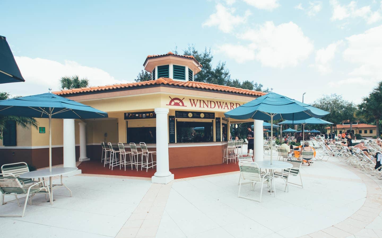 Windward Pool Bar in River Island at Orange Lake Resort near Orlando, Florida